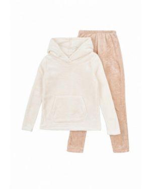 Спортивный костюм бежевый фламинго текстиль