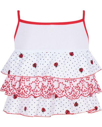 Блуза белая красный Leader Kids