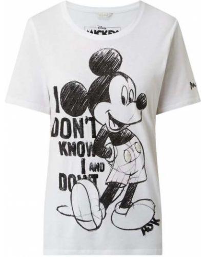 Biała T-shirt z nadrukiem bawełniana Frogbox