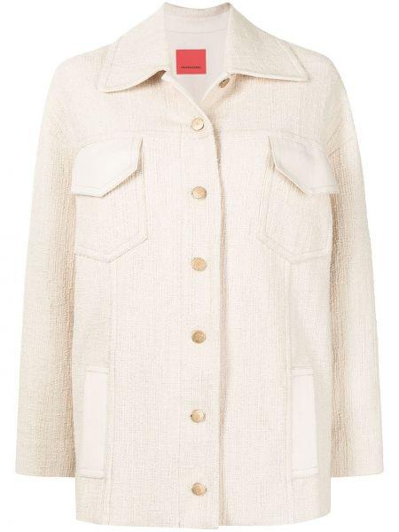 Хлопковая белая рубашка с воротником Manning Cartell