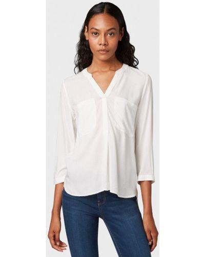 Блузка с длинным рукавом белая Tom Tailor Denim