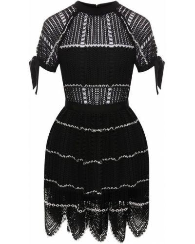 Платье мини вязаное приталенное Self-portrait