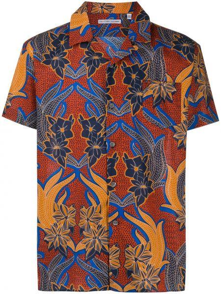 Koszula krótkie z krótkim rękawem klasyczna prosto Grey Daniele Alessandrini