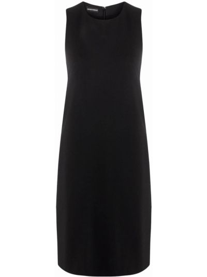Черное платье с круглым вырезом Emporio Armani