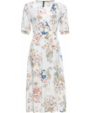 Платье миди с цветочным принтом Bonprix