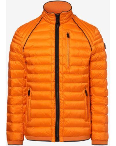 Prążkowana pomarańczowa kurtka sportowa pikowana Wellensteyn