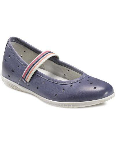 Туфли синие мягкий Ecco