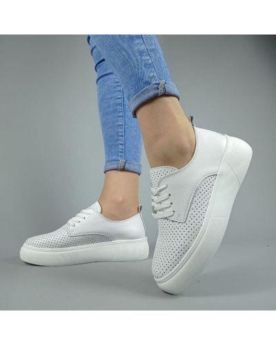 Кожаные кроссовки - белые Kadisailun