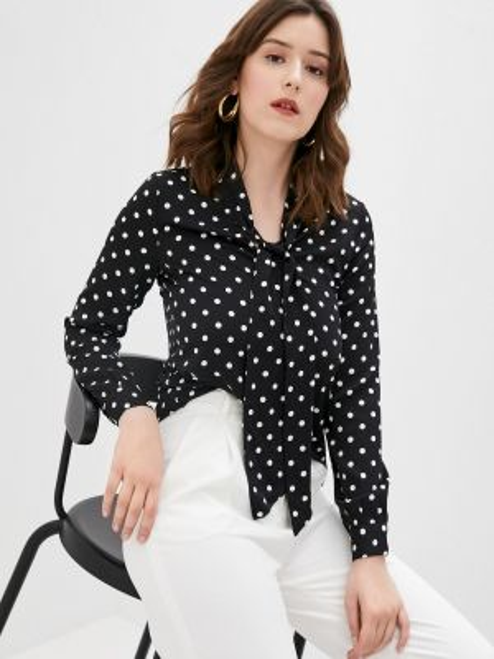 Черная блузка с длинным рукавом снежная королева