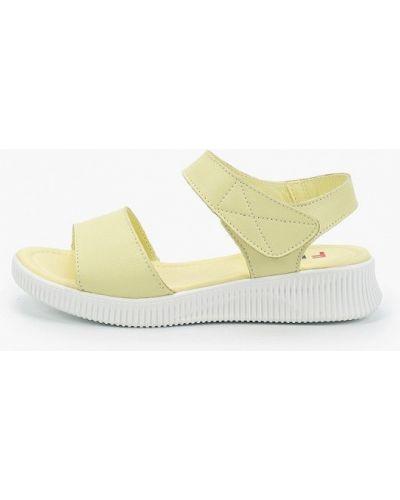 Желтые кожаные сандалии Francesco Donni