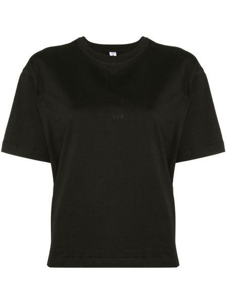 Хлопковая черная футболка свободного кроя с круглым вырезом Sir.