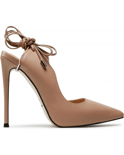 Босоножки на каблуке - розовые Eva Longoria