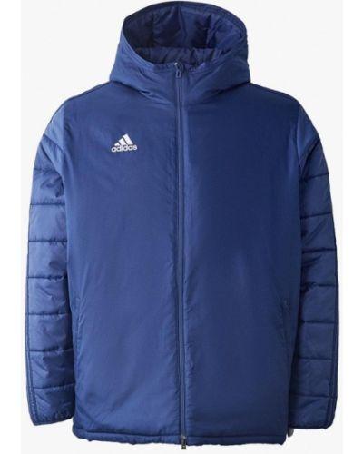Зимняя куртка утепленная синяя Adidas