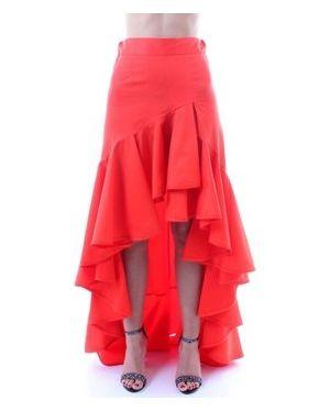 Pomarańczowa spódnica mini Mangano