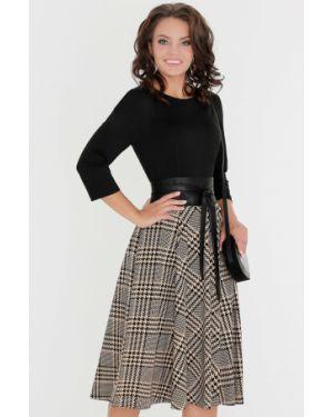 Платье с поясом в клетку платье-сарафан Dstrend