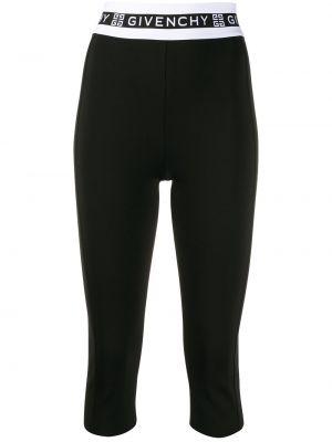 Черные леггинсы с поясом из вискозы Givenchy