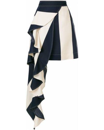 Юбка макси в полоску асимметричная Calvin Klein