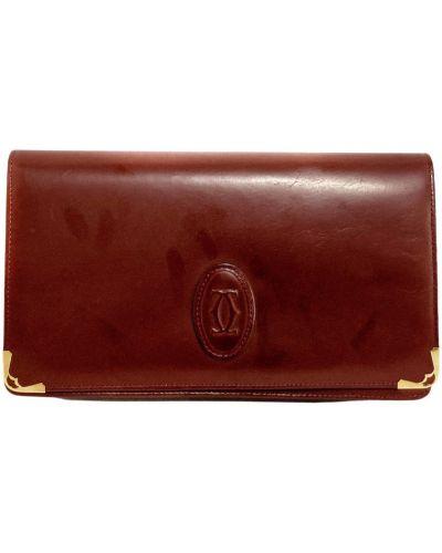 Kopertówka skórzana - czerwona Cartier Vintage