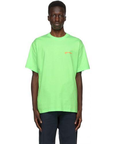 Zielony bawełna koszula krótkie rękawy z kołnierzem Burberry