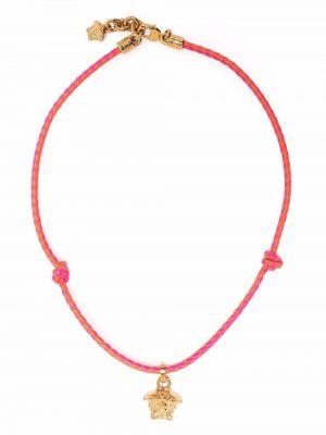 Różowy naszyjnik łańcuch Versace