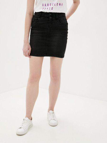 Черная джинсовая юбка Sublevel