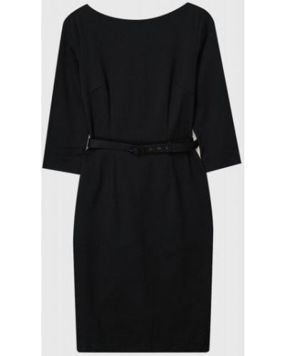 С рукавами черное платье-футляр с вырезом с пряжкой Ostin