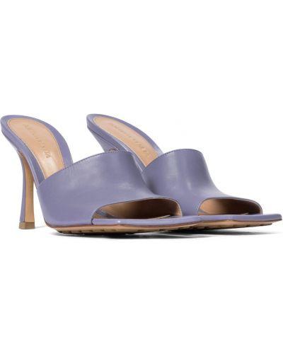 Фиолетовые кожаные сандалии стрейч Bottega Veneta