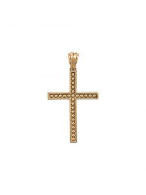 Золотистый крест золотой John Hardy
