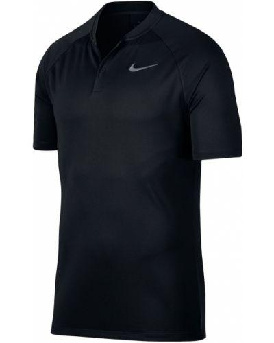 Czarny golf krótki rękaw w paski Nike