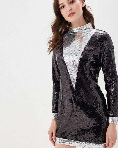 Вечернее платье весеннее серебряный You&you