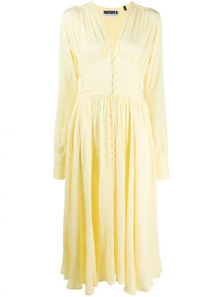 Платье из вискозы желтый Rotate