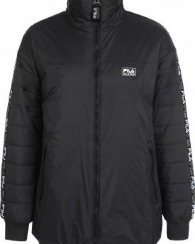 Куртка с капюшоном - черная Fila