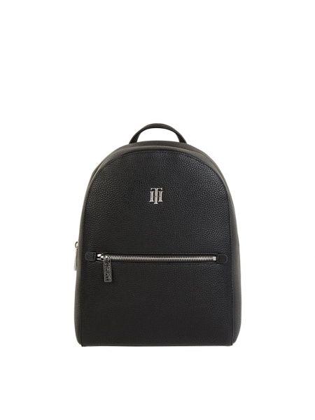 Czarny plecak w paski Tommy Hilfiger