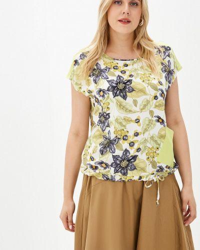 Блузка с коротким рукавом зеленый весенний Kontaly