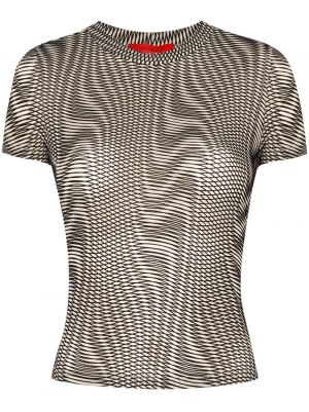 T-shirt czarny Eckhaus Latta