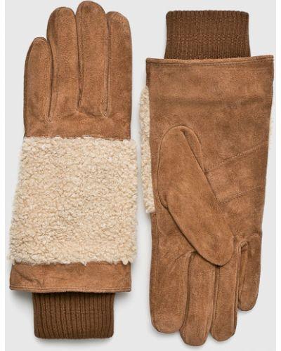 Кожаные перчатки текстильные Barts