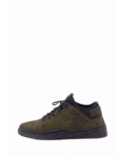 Ботинки из нубука - зеленые Tomfrie