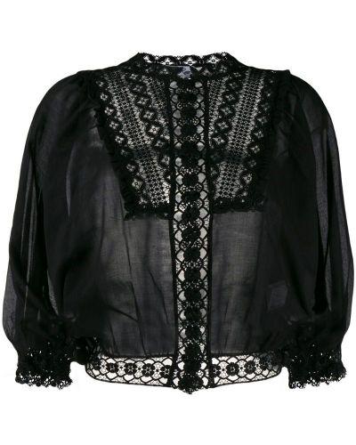 Блузка с вышивкой прозрачная Charo Ruiz