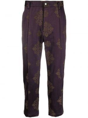Fioletowe spodnie z paskiem Goodfight