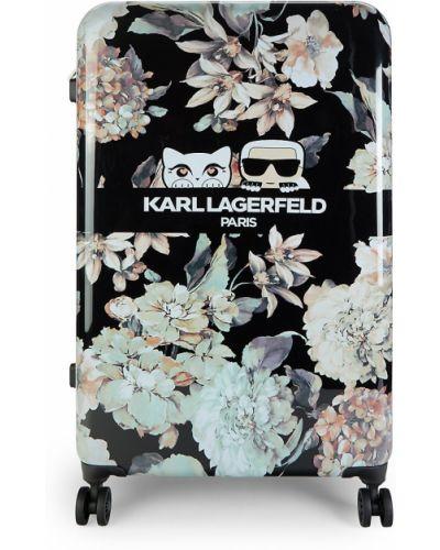Czarna walizka Karl Lagerfeld Paris