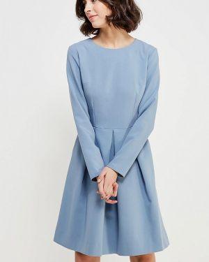Голубое платье осеннее Echo