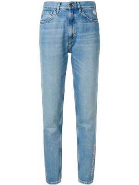 Джинсы с вышивкой Mih Jeans