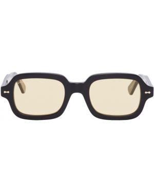 Okulary przeciwsłoneczne czarny żółty Gucci