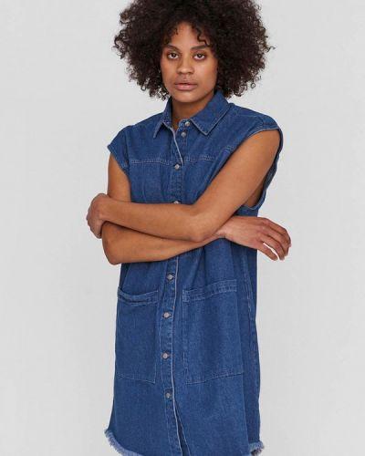 Джинсовое платье - синее Noisy May