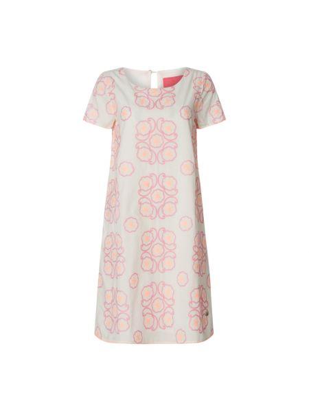 Sukienka rozkloszowana krótki rękaw - różowa Lieblingsstück