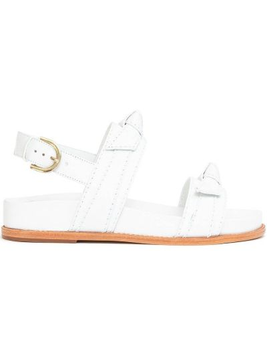 Sandały skórzane - białe Alexandre Birman