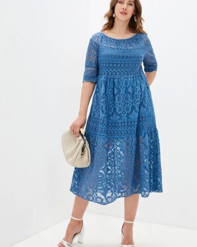 Прямое синее платье А-силуэта Grafinia