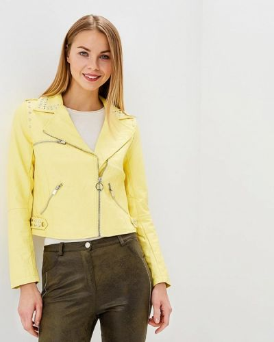 Кожаная куртка весенняя Laura Jo