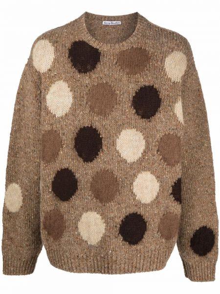 Шерстяной свитер - коричневый Acne Studios