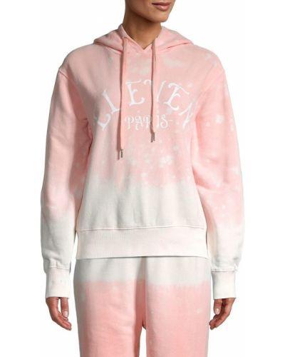 Розовое худи с капюшоном с длинными рукавами Eleven Paris